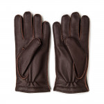 Men's Cashmere Lined Deer Skin Leather Gloves