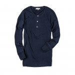 206 Henley Long Sleeve in Navy