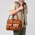 Bournbrook Briefcase in Mid Tan