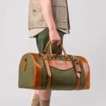 Medium Sutherland Bag in Hunter Green & Mid Tan