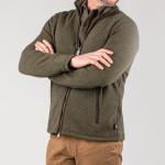 Lyell Fleece in Moss