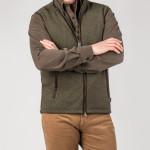 Lyell Fleece Gilet in Moss