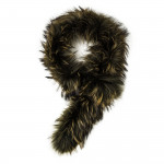 Raccoon Fur Scarf - Hedge Green
