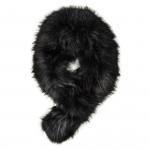 Deluxe Raccoon Fur Scarf - Black