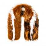 Maria Raccoon Fur Scarf - Autumn/White