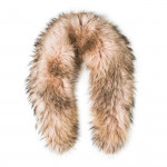 Deluxe Raccoon Fur Scarf - Evening Sand