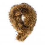 Raccoon Fur Scarf - Natural Brown