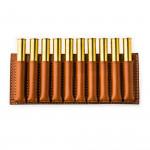 Large 10 Rd Open Ammunition Belt Wallet in Mid Tan
