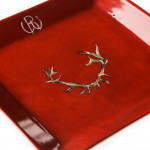 Porcelain Dish With Hand Painted Stag Antlers- Design 1