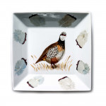 Porcelain Bowl With Hand Painted Red Leg Partridge