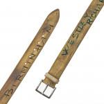 Men's Hand Painted Logo Belt