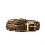 Men's Python Leather Belt in Corrosione