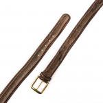 Men's Python Detail Leather Belt in Testa Moro