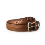 Men's Ostrich Leg Leather Belt - Cognac