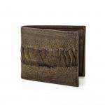 Ostrich Hide Wallet in Forest