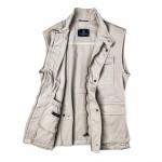 Men's Milan Garment Dyed Travel Vest in Beige