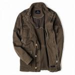 Men's Sorrento Garment Dyed Jacket in Olive