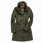 Ladies Helene Wool Coat with Fur