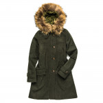 Ladies Giorgia Hooded Coat with Fur