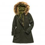 Ladies Giorgia Hooded Coat with Fur
