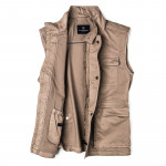 Men's Milan Garment Dyed Travel Vest - Sahara