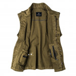 Men's Milan Garment Dyed Travel Vest - Green