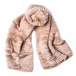Woven Rabbit Fur Scarf in Sand