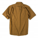 Short Sleeve Feather Cloth Shirt in Rugged Tan