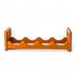 Hand Stitched Leather Covered Bottle Rack in Natural