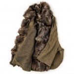 Ladies St. Petersburg Cape in Tan Tweed