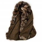 Ladies St. Petersburg Cape in Brown Tweed