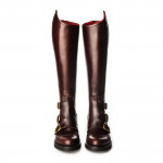 Ladies Leather Buckle Boots