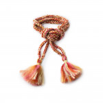 Handmade Wool Garters- Rust and Pink
