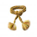 Handmade Wool Garters- Moss and Gold
