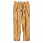 Long Staple Cotton Trousers in Dark Beige
