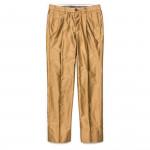 Long Staple Cotton Trousers in Dark Beige