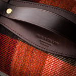 Wool Travel Blanket - Red/Charcoal/Navy