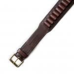 20 Gauge Leather Cartridge Belt in Dark Tan