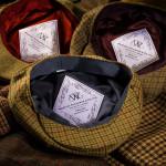 Kinloch Tweed Cap in Loden & Wine Check