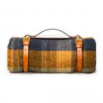 Wool Travel Blanket in Orange Combo
