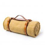 Wool Travel Blanket in Antique Yellow