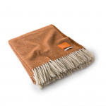 Wool Travel Blanket in Burnt Orange