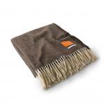 Wool Travel Blanket in Woodland Brown