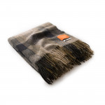 Wool Travel Blanket in Black Stone
