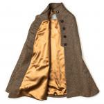 Ladies Fur-Trimmed Cape in Tweed