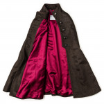 Ladies Fur-Trimmed Cape in Loden