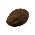 Bond Tweed Cap in Dark Green and Red Check
