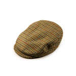 Bond Tweed Cap in Orange/Blue Check