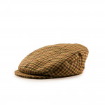 Bond Tweed Cap in Plum Hounds Tooth Check