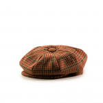 Redford Tweed Cap in Red Check